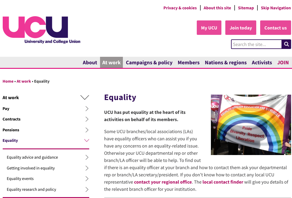 UCU sexual harassment helpline launched