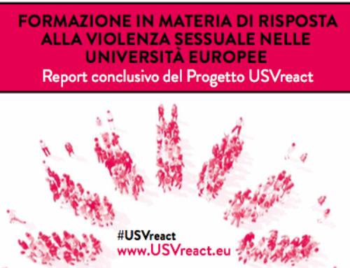 Report conclusivo del Progetto: FORMAZIONE IN MATERIA DI RISPOSTA ALLA VIOLENZA SESSUALE NELLE UNIVERSITÀ EUROPEE